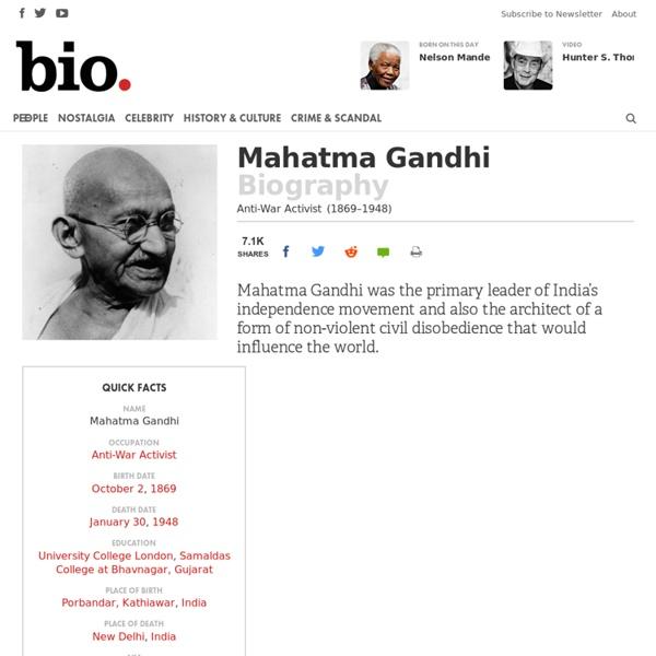 Mahatma Gandhi - Biography - Anti-War Activist