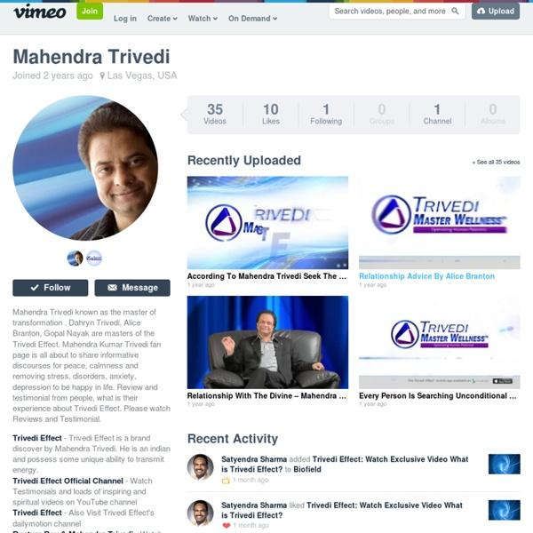 Mahendra Trivedi on Vimeo