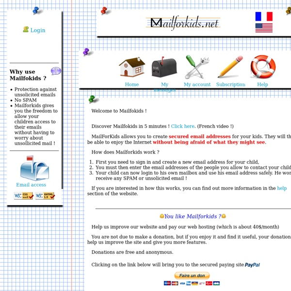 Mailforkids, a secure email address for your kid