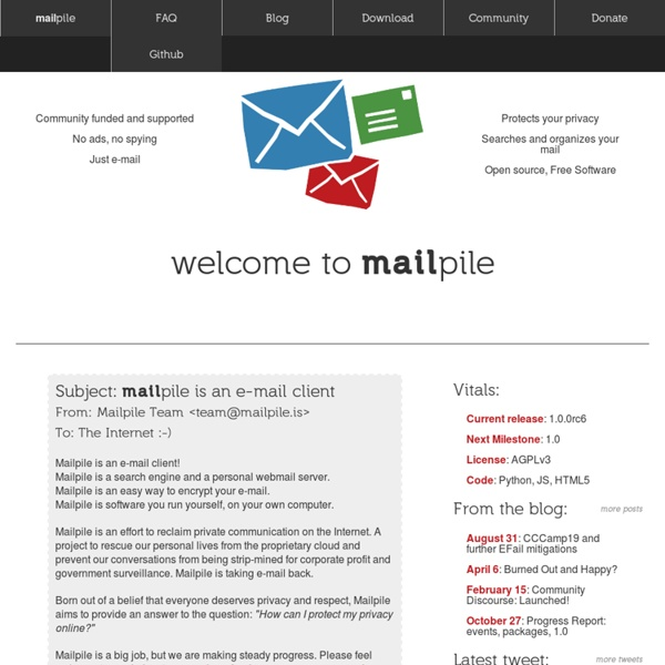 Mailpile: e-mail that protects your privacy