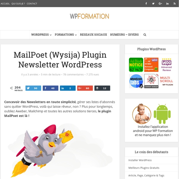 Wysija Newsletter - Plugin de Newsletter WordPress