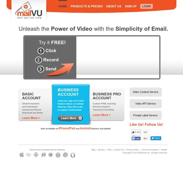 MailVU.com: Video Email