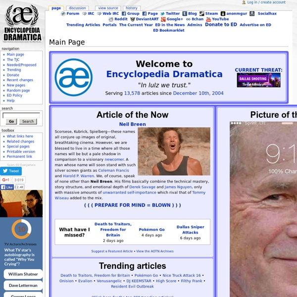 Main Page - Encyclopedia Dramatica