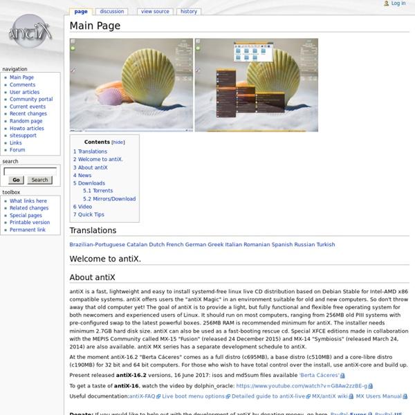 Main Page - antiX