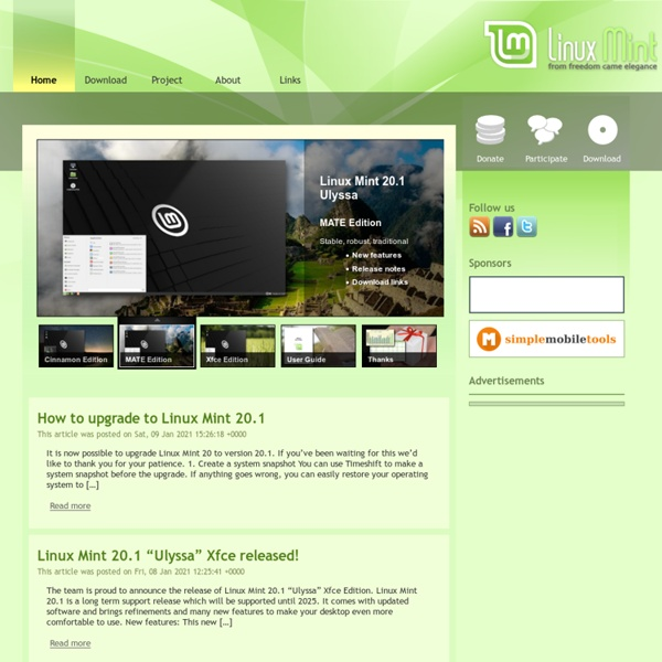 Main Page - Linux Mint