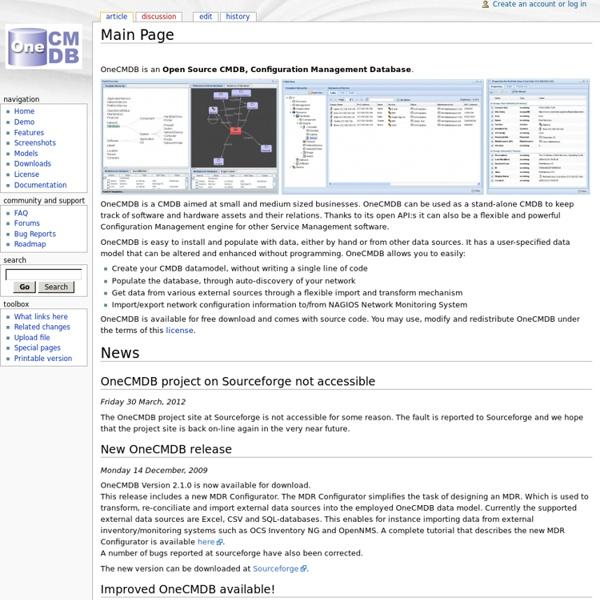 Main Page - OneCMDB