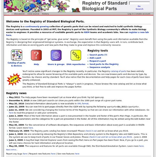 Main Page - partsregistry.org