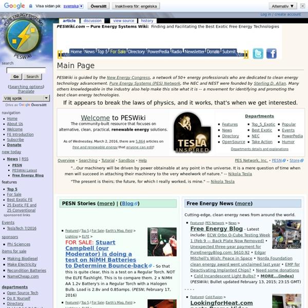 Main Page - PESWiki