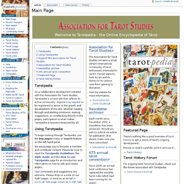 Main Page - Tarotpedia