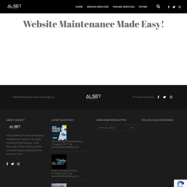 Maintenance - Alset Marketing