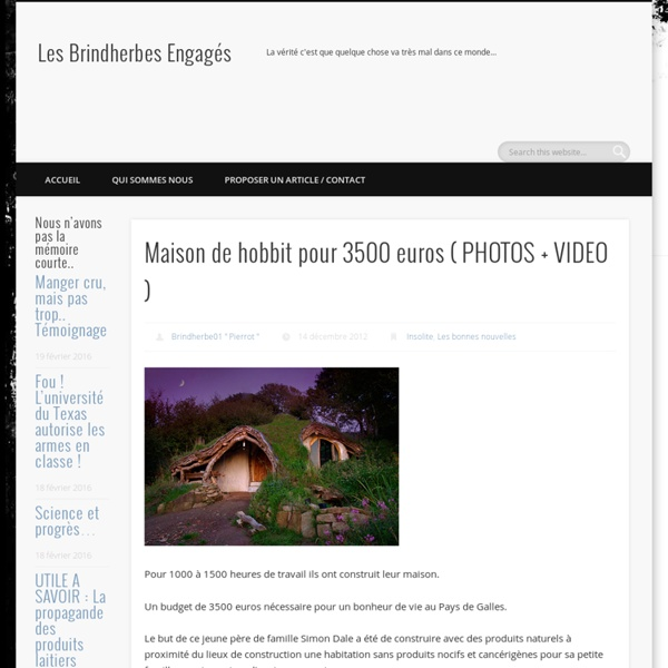 Maison de hobbit pour 3500 euros ( PHOTOS + VIDEO )