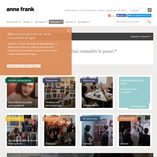 Maison Anne Frank : Portail des enseignants