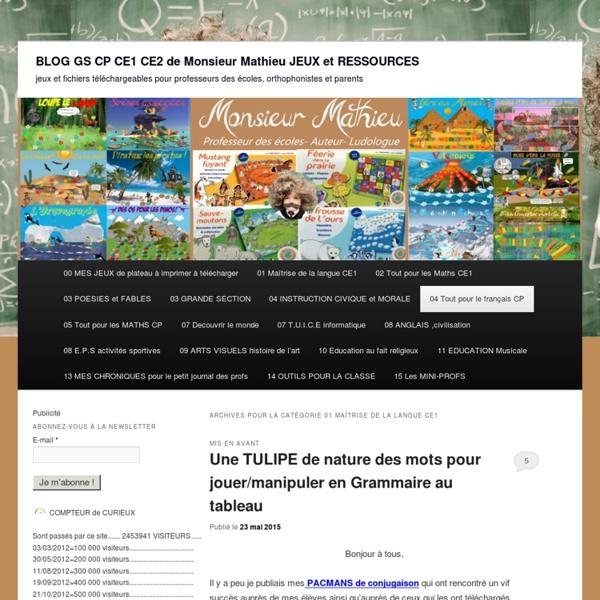 BLOG GS CP CE1 CE2 de Monsieur Mathieu JEUX et RESSOURCES