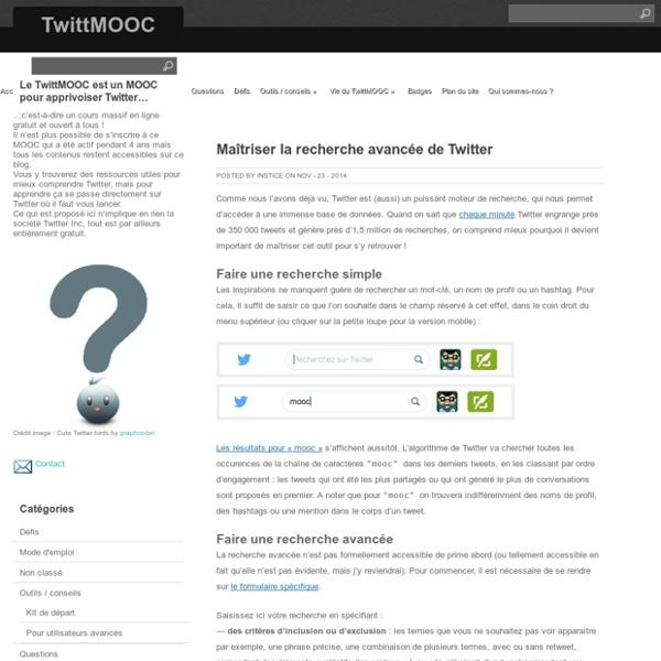 Maîtriser la recherche avancée de Twitter