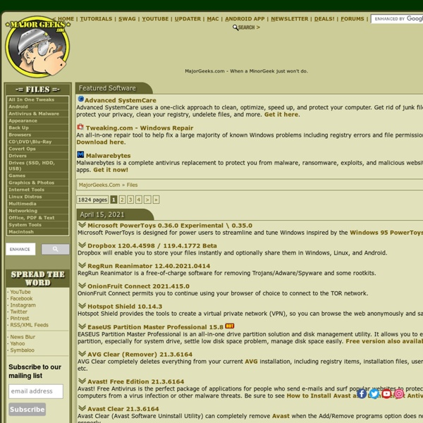 MajorGeeks.Com - MajorGeeks