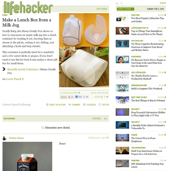 Make a Lunch Box from a Milk Jug