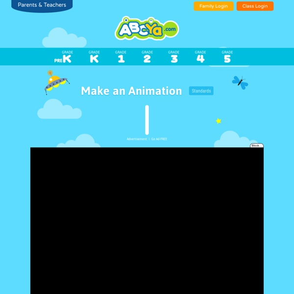 Create an animation online with ABCya! Animate