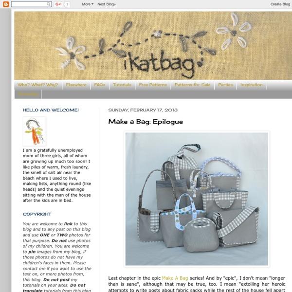 Ikat sac: faire un sac: Epilogue