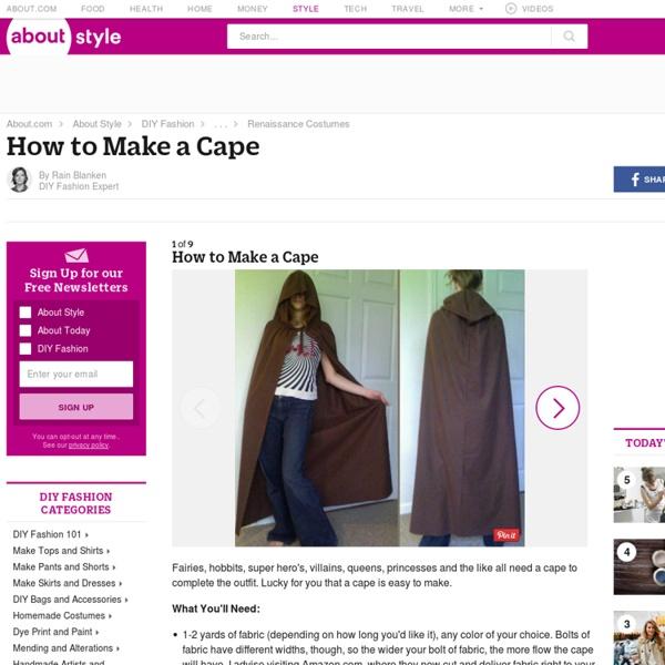 How to Make a Cape