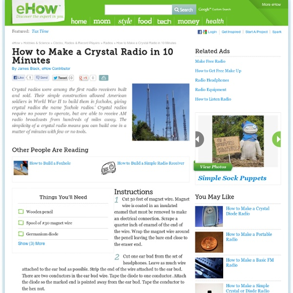 How to Make a Crystal Radio in 10 Minutes