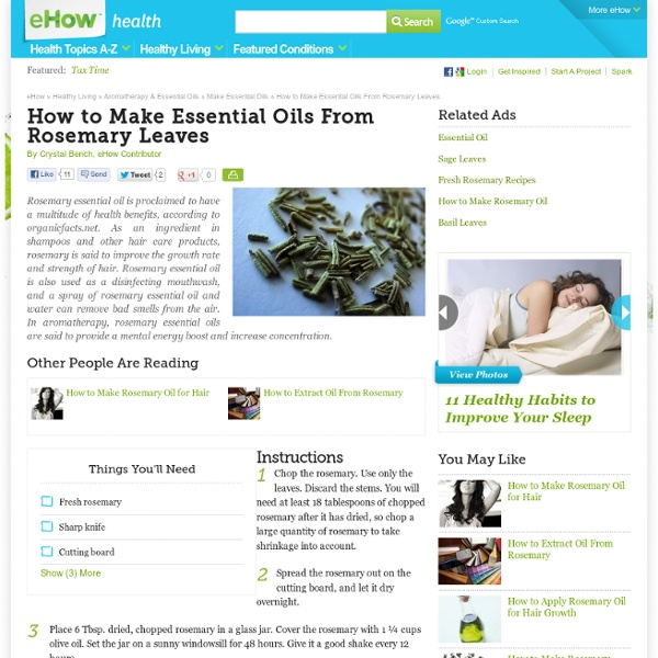 How to Make Essential Oils From Rosemary Leaves