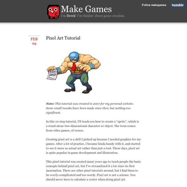 Make Games - Pixel Art Tutorial
