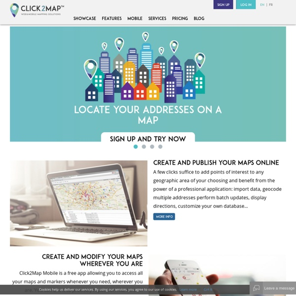 Make Maps Online with Click2Map