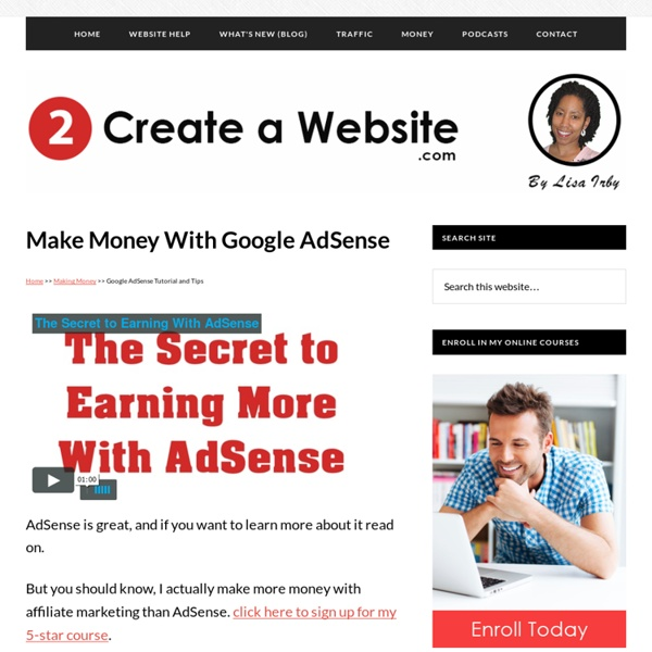 Google Adsense Tutorial - How To Make Money Online With ...