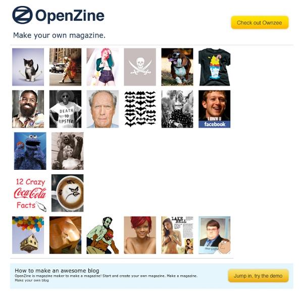 Make your own magazine - OpenZine.com