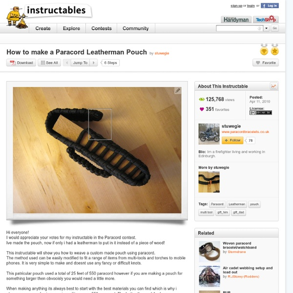 How To Make A Paracord Leatherman Pouch