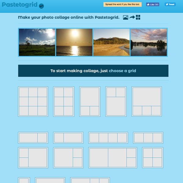 Make photo collage - Pastetogrid