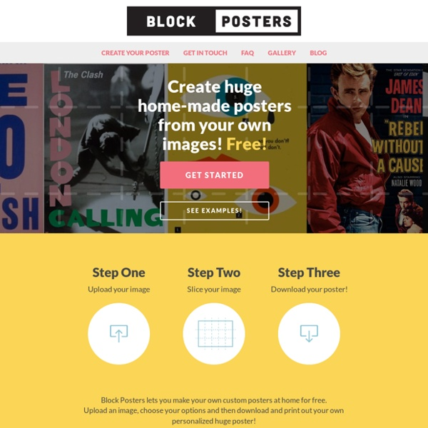 Make your own posters at home for free! - Block Posters