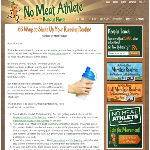 63 Ways to Shake Up Your Running Routine