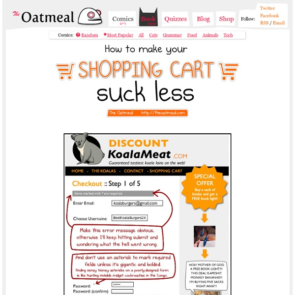 Normal Stuff - How to make your shopping cart suck less