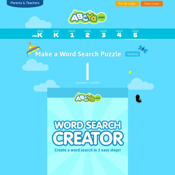 make a word puzzle