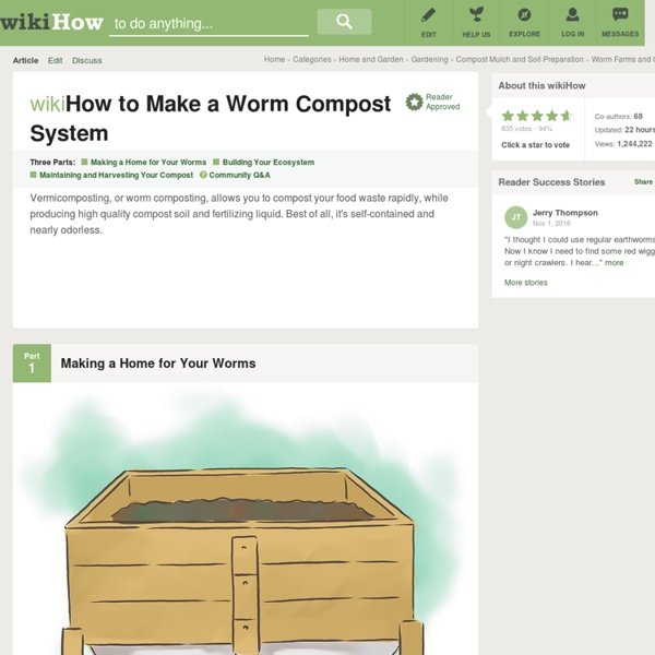 How to Make a Worm Compost System: 10 Steps