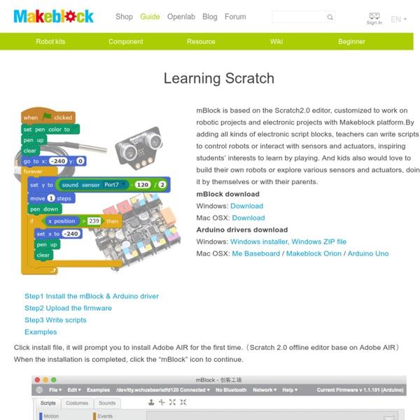 Learning Scratch