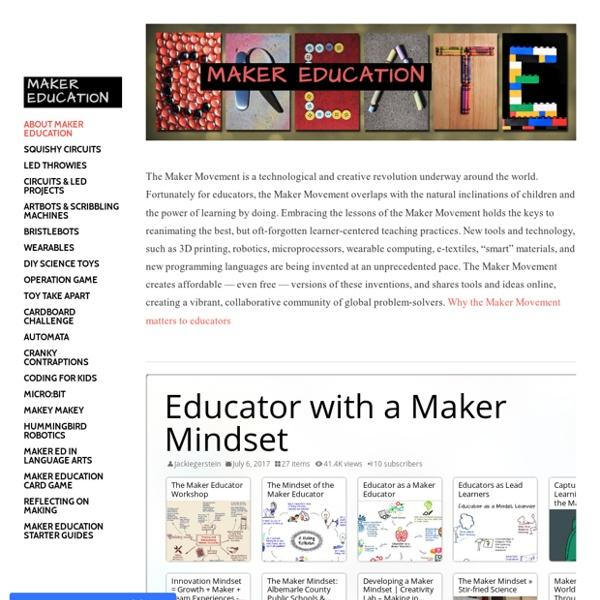Maker Education - About Maker Education