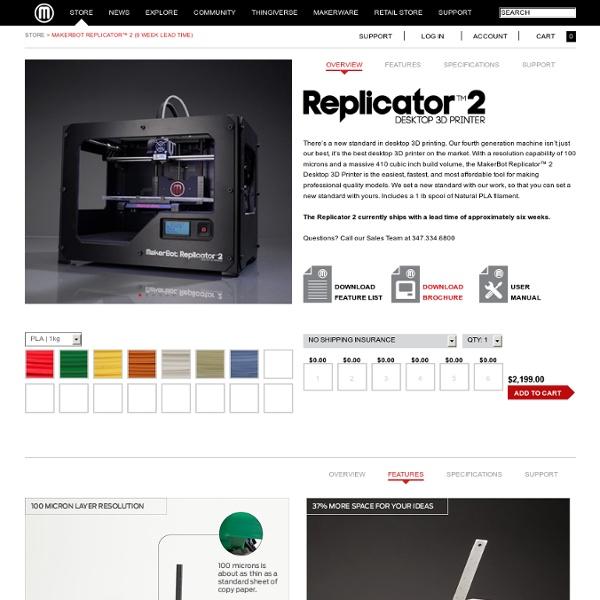 Replicator™ 2 Desktop 3D Printer