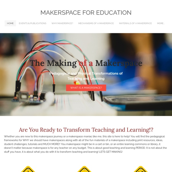 Makerspace for Education - Home