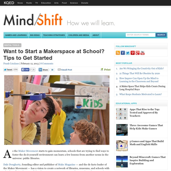 Want to Start a Makerspace at School? Tips to Get Started