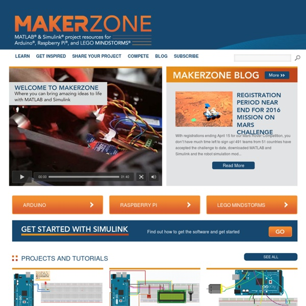 Arduino, Raspberry Pi and Lego NXT Project Resources