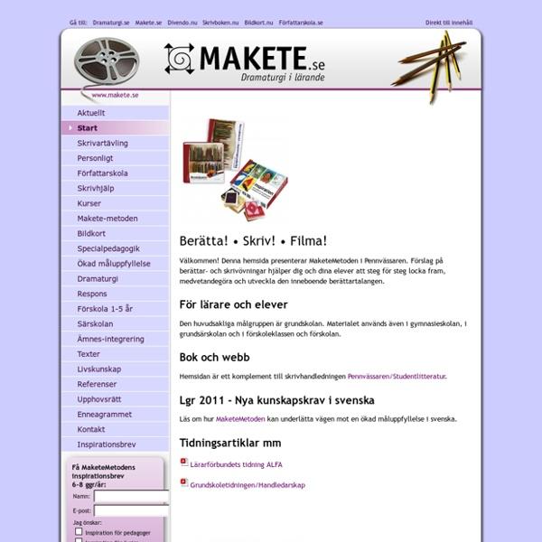 Makete.se - dramaturgi i lärande