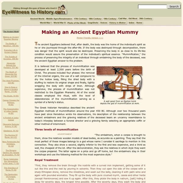 Making an Ancient Egyptian Mummy