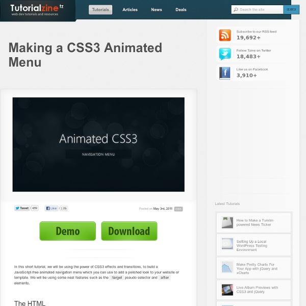 Making a CSS3 Animated Menu