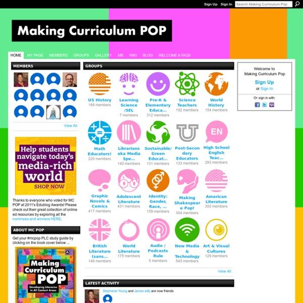 Making Curriculum Pop