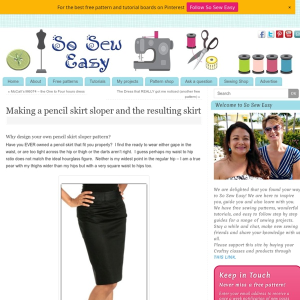 Making a pencil skirt sloper and the resulting skirt