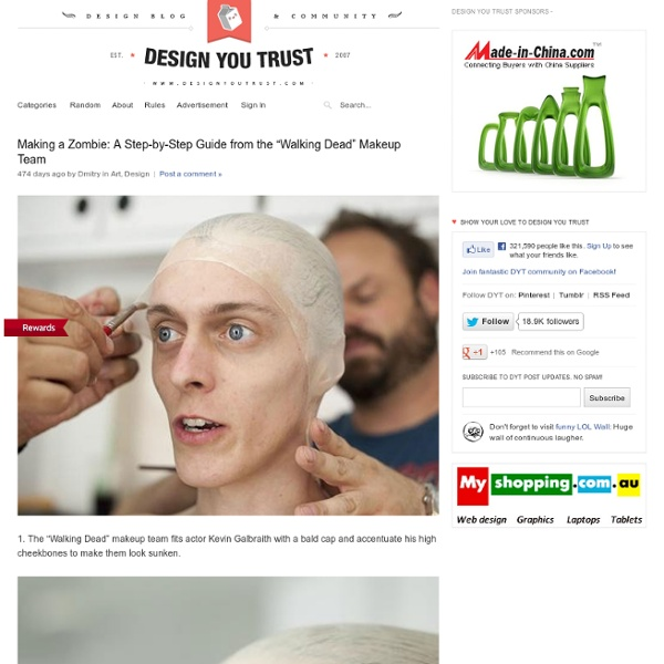 """Making a Zombie: A Step-by-Step Guide from the """"Walking Dead"""" Makeup Team"""