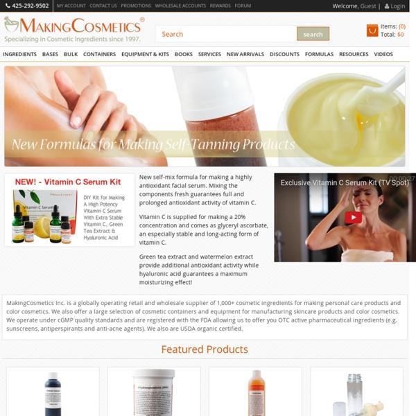 MakingCosmetics Inc. - Worldwide Supplier of Cosmetic Ingredients