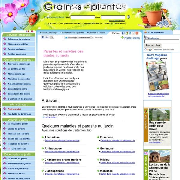 Maladies des plantes et lutte biologique